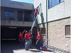 Ladder Safety   A Clear View Through Clean Windows Unsafe Ladder Safety