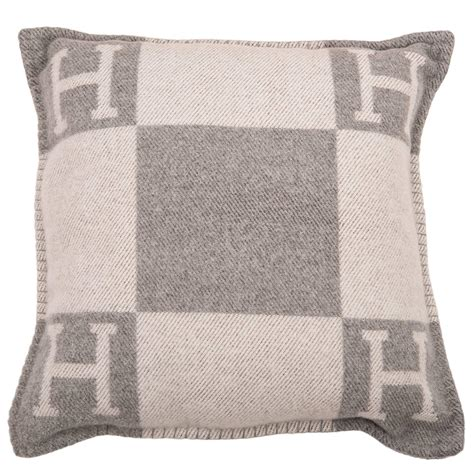 Hermes Pillows by Hermes Quot Avalon Quot Ecru And Light Grey Signature H Cushion Pm