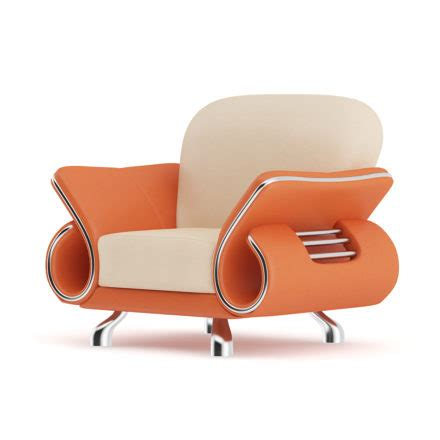 orange leather armchair orange leather armchair 3d model 3dhunt co