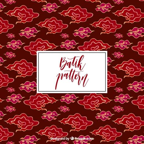 batik pattern vector ai hand drawn cloud batik pattern vector free download