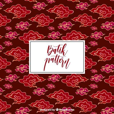 pattern batik free vector hand drawn cloud batik pattern vector free download