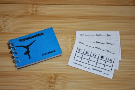 Gymnastics Score Card Template Arts And Crafts For Your American Girl Doll Gymnastics Score Book And Score Card For American