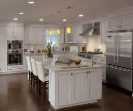 Finishing Kitchen Cabinets Painted Kitchen Cabinets In Alabaster Finish Kitchen Craft