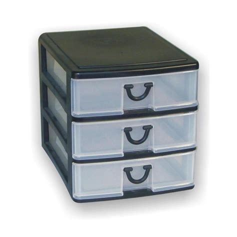 shop gracious living 3 drawer desktop organizer at lowes