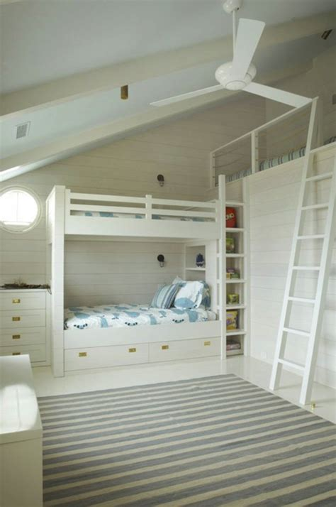 Built In Bunk Bed Built In Bunk Beds Cottage Boy S Room Benjamin Gray Mist Wettling Architects