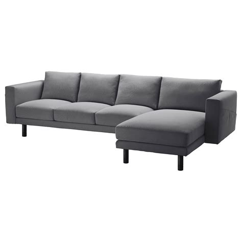 ikea sofa grey norsborg three seat sofa and chaise longue finnsta