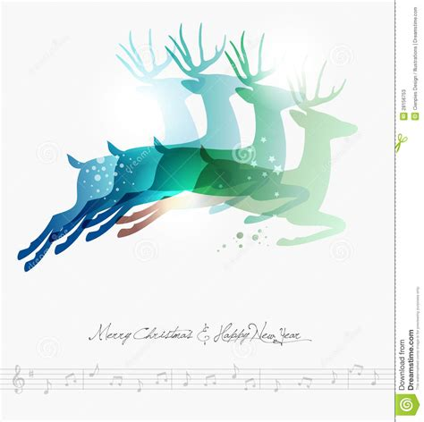 merry christmas modern merry christmas contemporary jumping deers stock photos