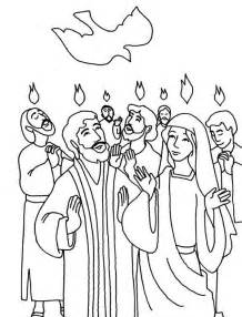 pentecost color day of pentecost coloring pages