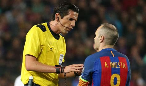 barcelona referee barcelona v psg referee faces uefa sanction this is why