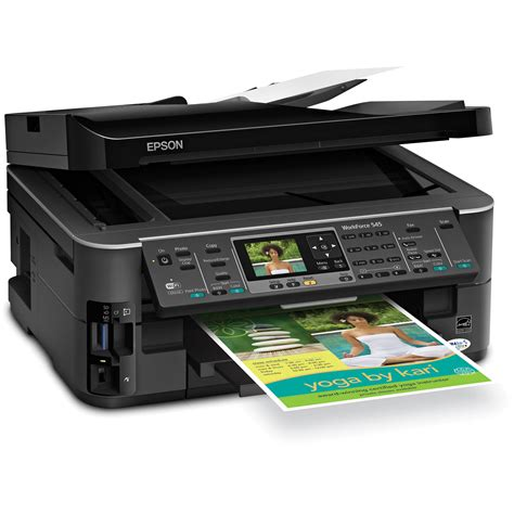 Printer Epson All In One epson workforce 545 all in one color inkjet printer c11cb88201