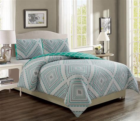 Destin Set destin aqua gray reversible comforter set