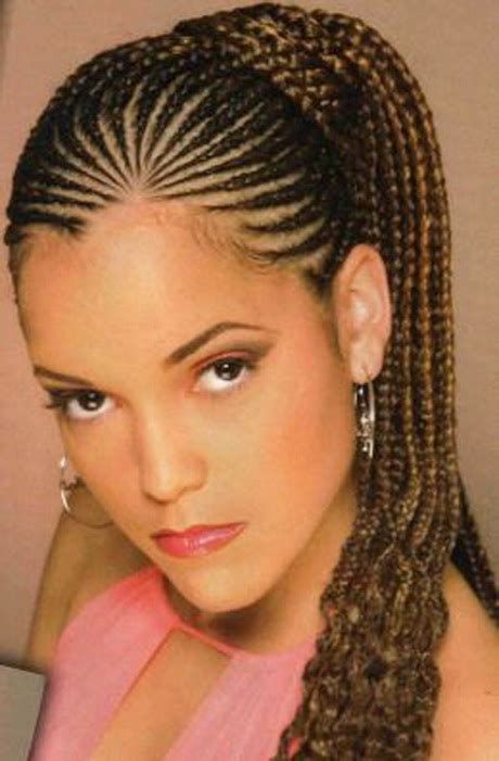 cornrow hairstyles for black women with part in the middle cornrow braids hairstyles for black women