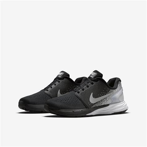grey and black nike running shoes nike boys lunarglide 7 running shoes black grey
