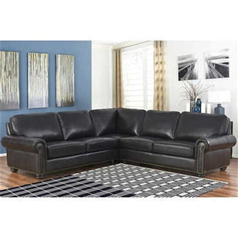 dillon sectional costco delmar top grain leather sectional