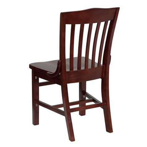Wood Restaurant Chairs hercules mahogany finished school house back wooden