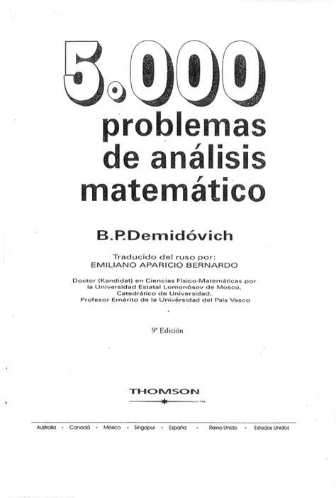 5000 Problemas de Analise matematica - Demidovich