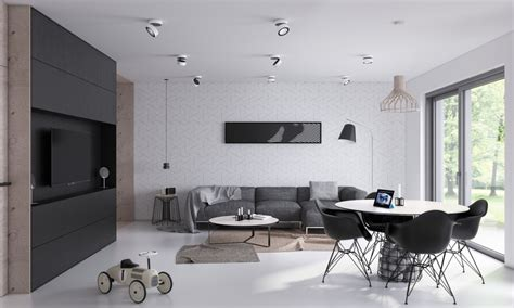 Open Living Room Color Schemes 2 Open Plan Living And Dining Room Design With Sleek