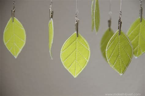 fabric leaf hanging mobile or any other shape make