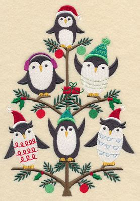 tree skirt jolly squirrel penguin owl machine embroidery designs at embroidery library