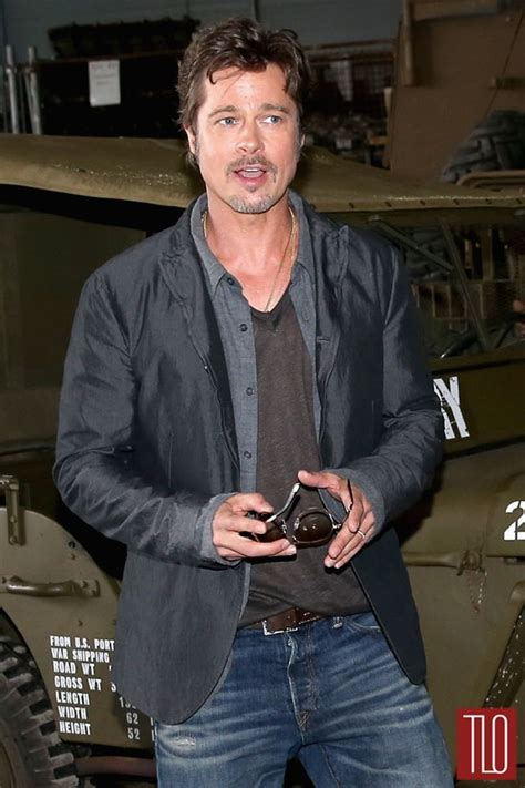 Hell S Kitchen Brad Pitt Brad Pitt At Quot Fury Quot Photocall Tom Lorenzo