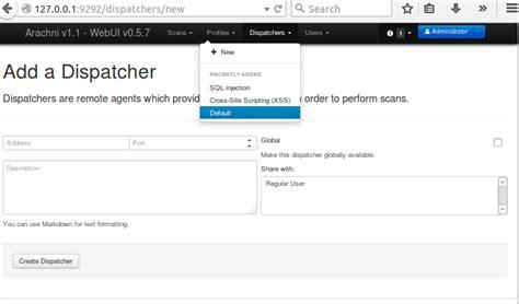 arachi the web security scanning tool