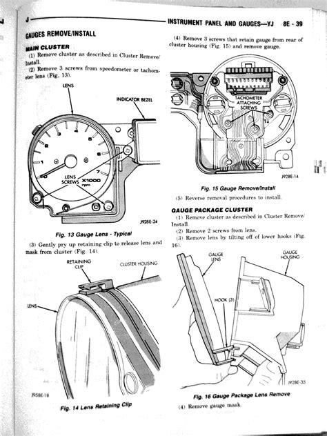 yj instrument cluster manual chapter yj instrument