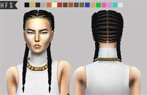 sims 4 female braids bebebrillit hautfashionsims4 ep 10 braided braids hair