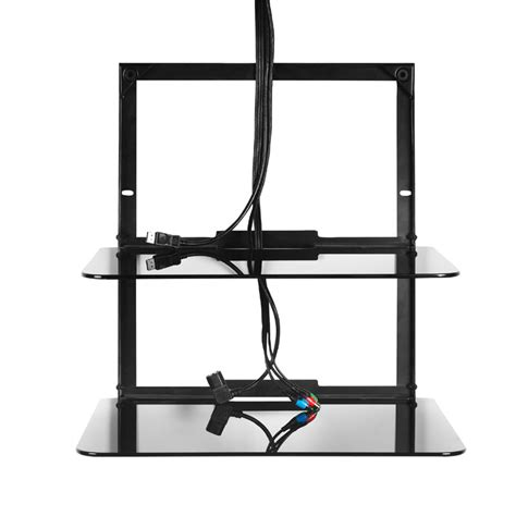 Omnimount Component Shelf Black by Omnimount Blade Series Dual Shelf Component Wall Mount