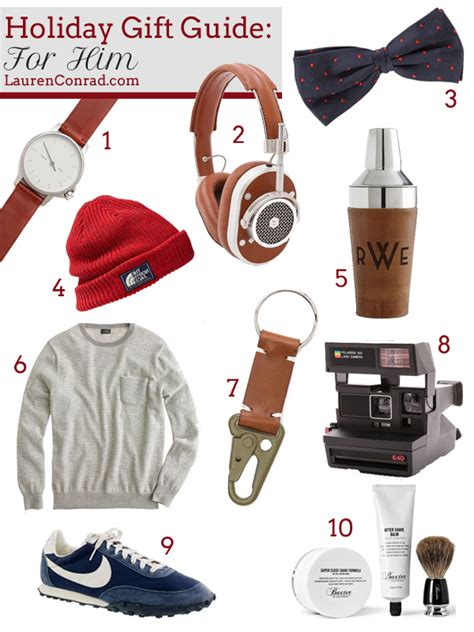 holiday gift guide for him lauren conrad