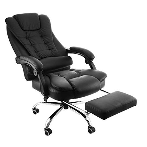 reclining shoo chair with footrest best reclining office chair with footrest heavy duty