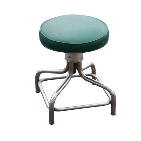 Adjustable Stool by Vintage Industrial Age M Brant Sons Low Adjustable