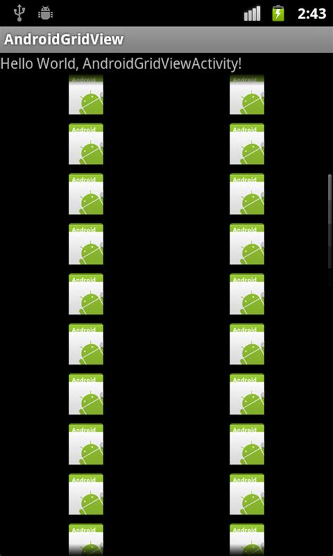 gridview layout height android coding custom gridview