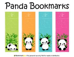 bookmark printing template free printable panda bookmarks the pdf template