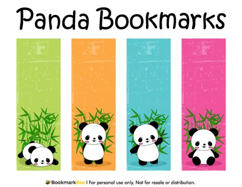 free printable bookmarks you can color free printable panda bookmarks download the pdf template