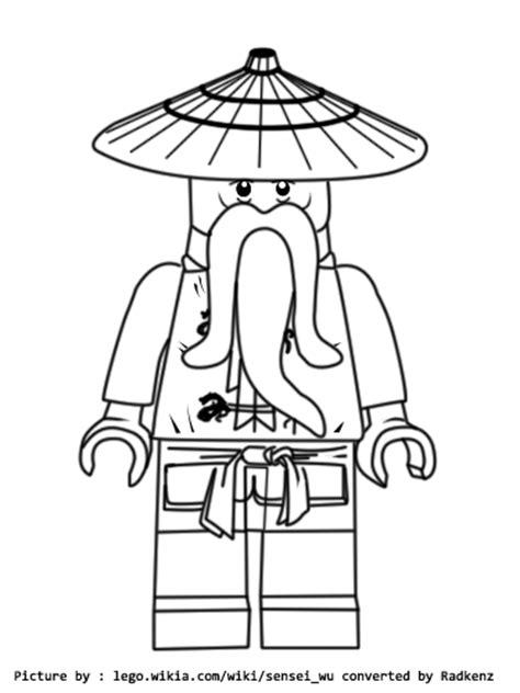 lego ninjago sensei wu coloring pages radkenz artworks gallery lego ninjago