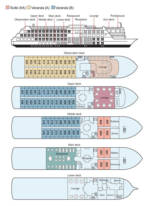 cruise ship floor plans ms omar el khayam