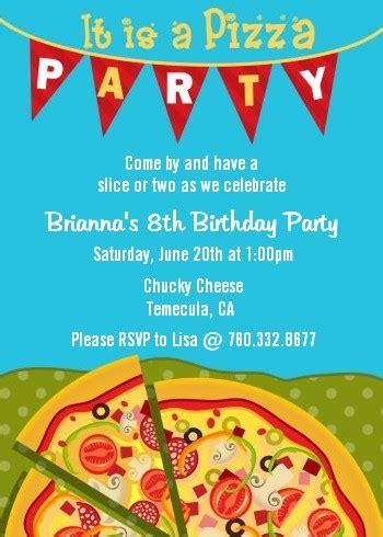 pizza birthday card template pizza invitations theruntime
