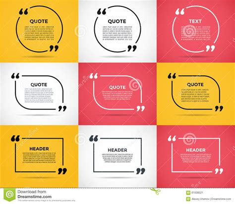 Website Review Quote Blank Template Stock Vector Image 61508521 Customer Review Website Template