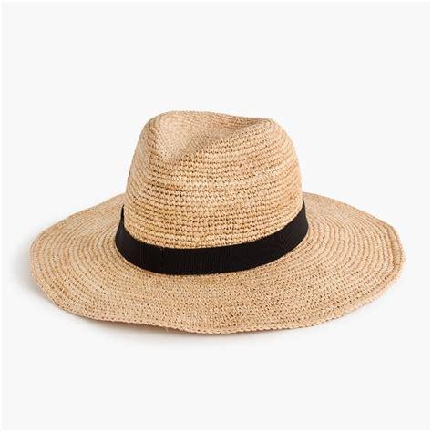 wide brim packable straw hat accessories j crew