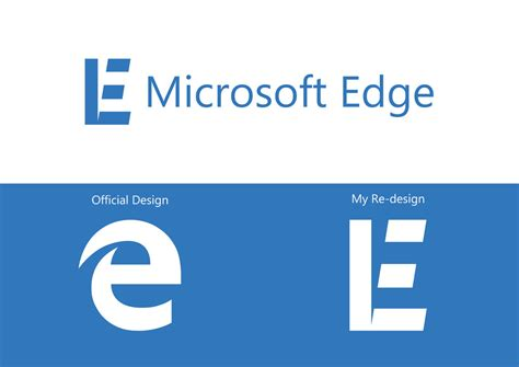 Microsoft Edge Logo Re design by GingerJMEZ on DeviantArt