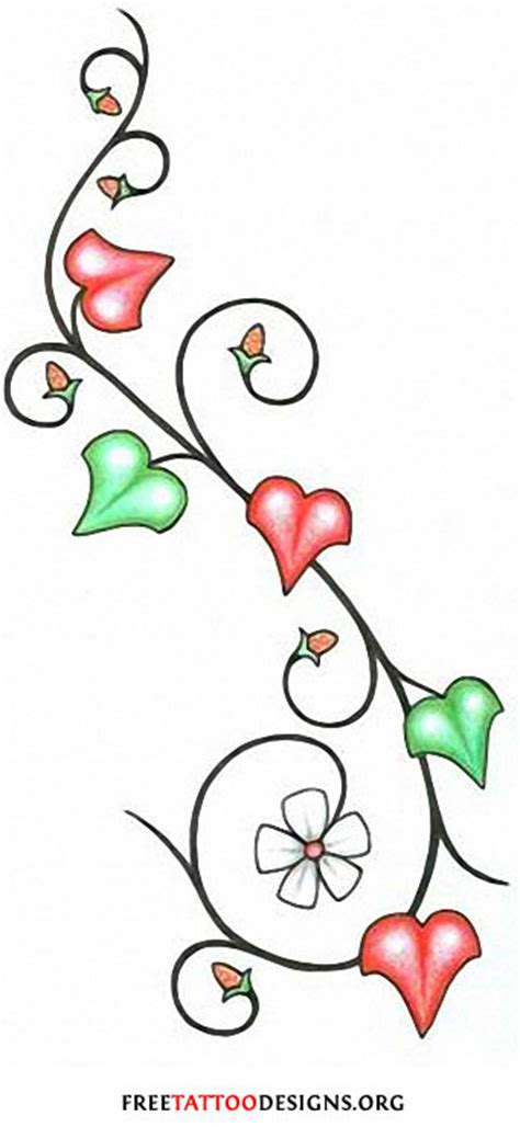 vine with flowers tattoo design flower gallery 70 flower designs