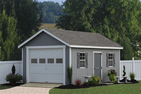 one car garage plans photos single car garages from sheds unlimited average