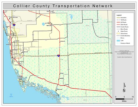 Records Collier County Collier County Road Network Color 2009