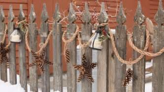 Christmas garland create an outdoor display that lasts