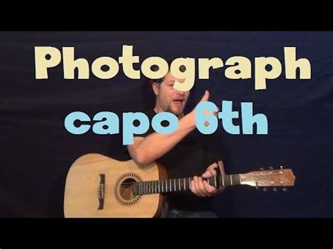 photograph fingerstyle tutorial no capo photograph def leppard easy guitar lesson how to play