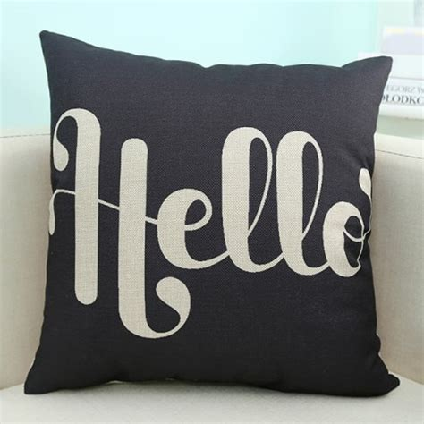 Cheap Black Pillow Cases by Black Wholesale Letter Printed Sofa Cushion Pillow
