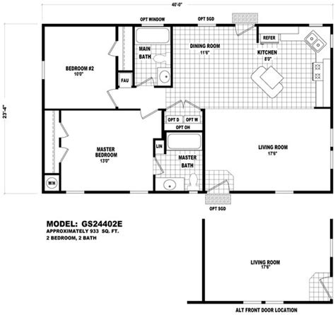 cavco floor plans floor plan gs 24402e gs 20 24 wides homes by cavco