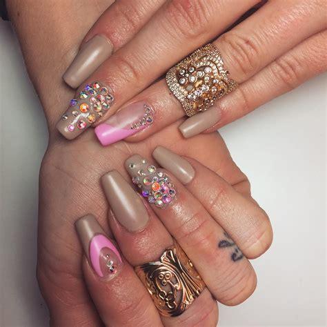 long acrylic nail art designs ideas design trends