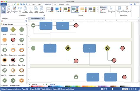 draw bpmn diagram best visio alternative for creating bpmn visio like