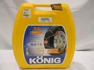 cadenas konig no problem set snow chains konig no problem magic t2 model 104 tyre